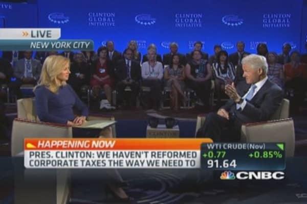 Pres. Clinton's tax inversion view