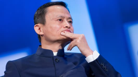 Jack Ma, founder of Alibaba Group Holding Ltd. at the 2014 CGI annual meeting in New York.