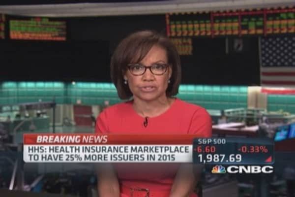 HHS: Health Insurance Marketplace 25% more issuers in 2015