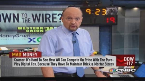 Money transfer stocks: Cramer's forecast