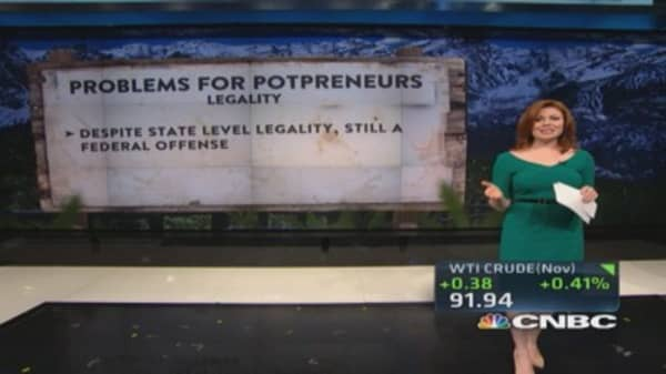 Problems for potpreneurs