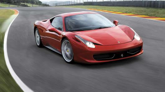 The Ferrari 458 Italia.