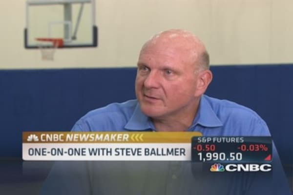 Ballmer: Really fun to own a sport's team!