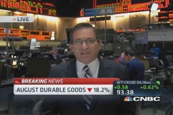 August durable goods drops 18.2%