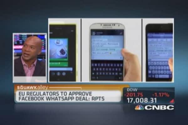 EU regulators to approve Facebook-WhatsApp deal: Report