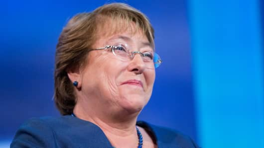 President Michelle Bachelet of Chile.