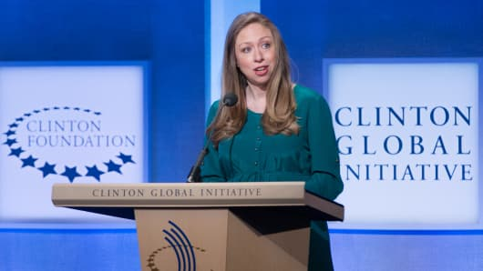 Chelsea Clinton speaks at the 2014 CGI annual meeting in New York.