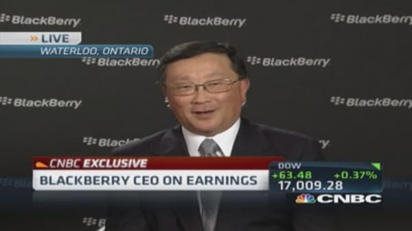 BlackBerry CEO: Cash positon strong
