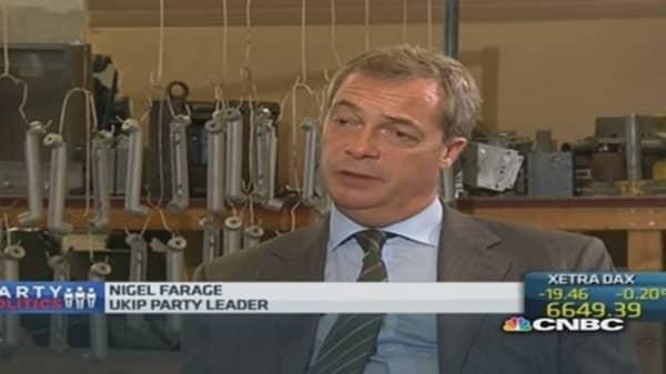 EU needs UK more than we need them: Farage