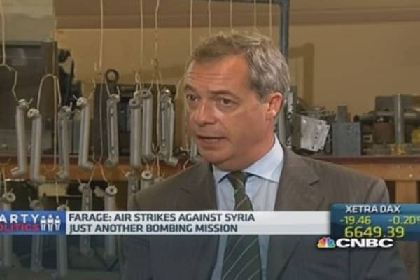 UK ISIS strategy not 'thought through': Farage