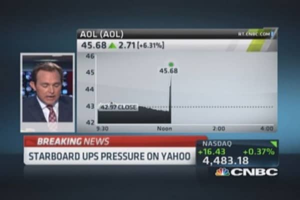 Yahoo & AOL surge after Starboard letter