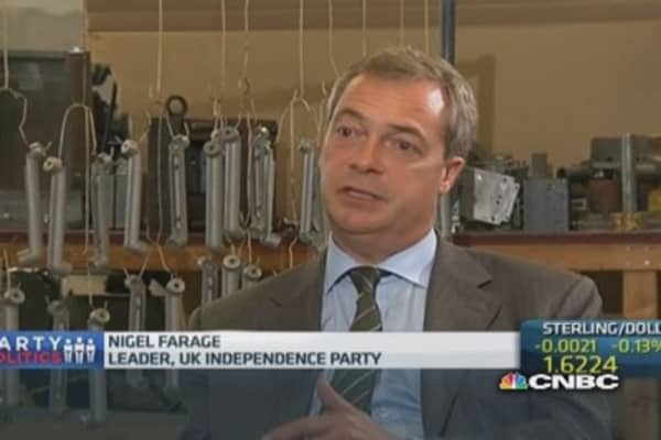 'I'm very serious': UKIP leader Farage