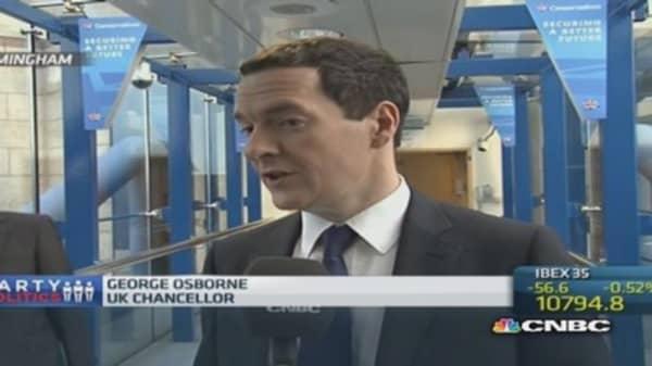 UK economic plan 'is working': Fin min