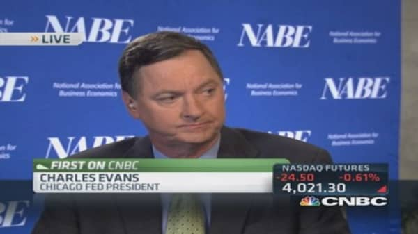 Quite some time before rates should rise: Evans