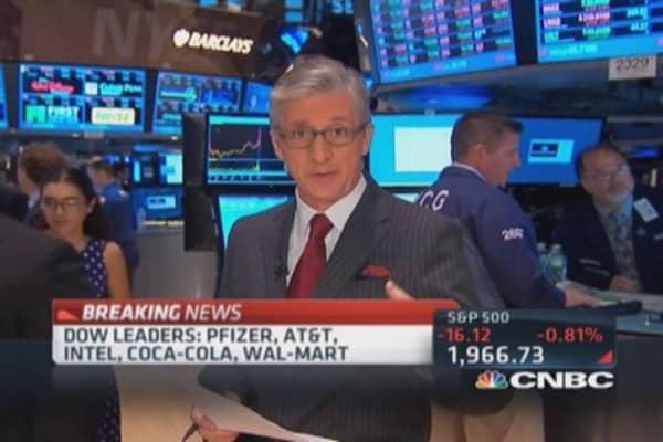 Pisani's market open: Broad market weakness