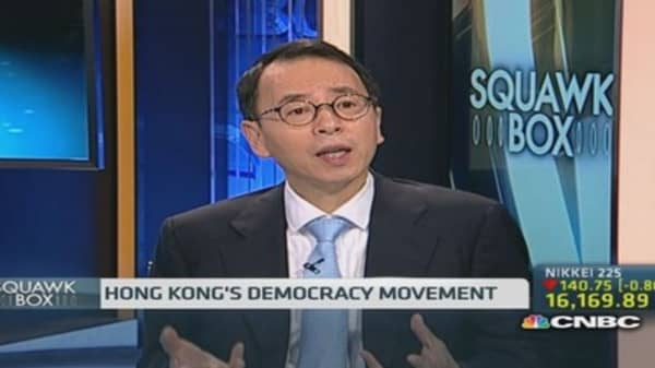 Don't blame Hang Seng losses on protests