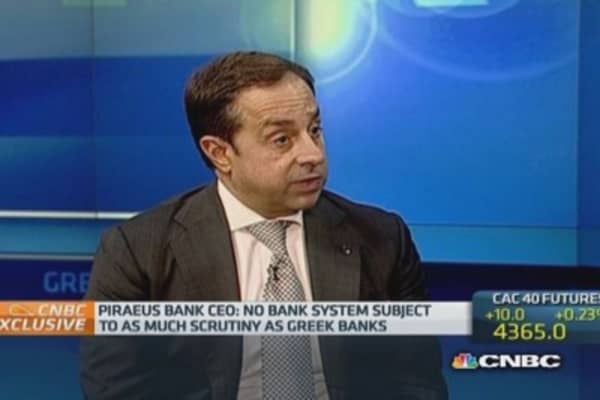 'Optimistic' on ECB stress tests: Piraeus Bank CEO