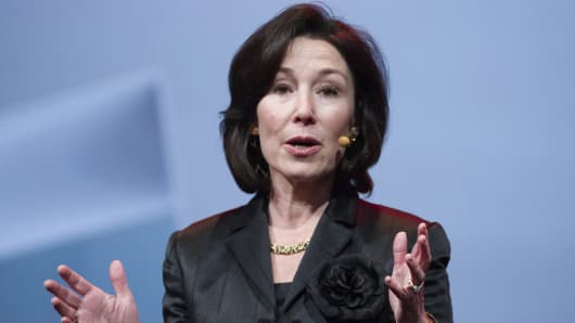 Safra Catz, co-chief executive officer of Oracle Corp.