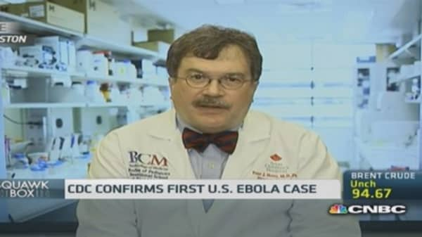 US won't see an Ebola epidemic: Expert