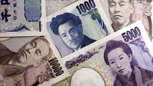 Premium Japanese yen notes