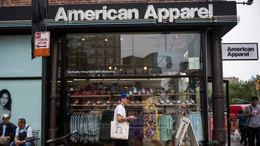 An American Apparel store in New York City.