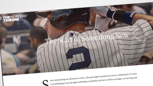 "Derek Jeter's ""The Players' Tribune"""
