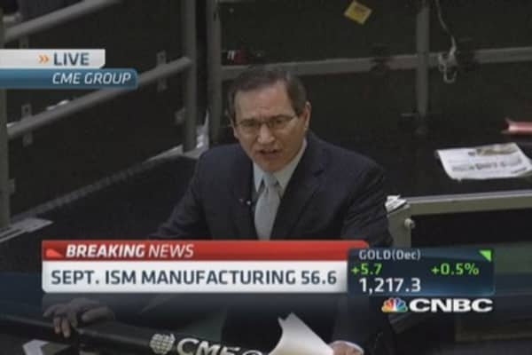 Sept. ISM manufacturing 56.6