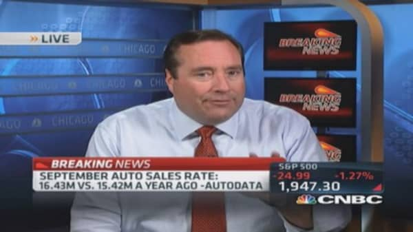 Sept. auto sales 16.43 million: Autodata