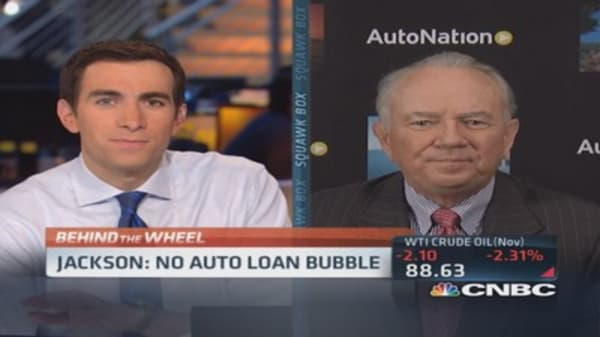 No auto loan bubble: AutoNation CEO
