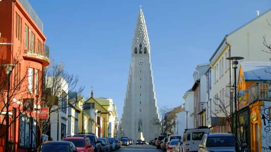 The Hallsgrimkirkja Church, Reykjavik, Iceland.