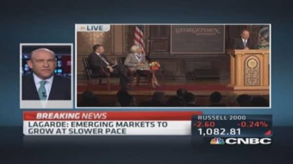 IMF's Lagarde: Global economy weaker