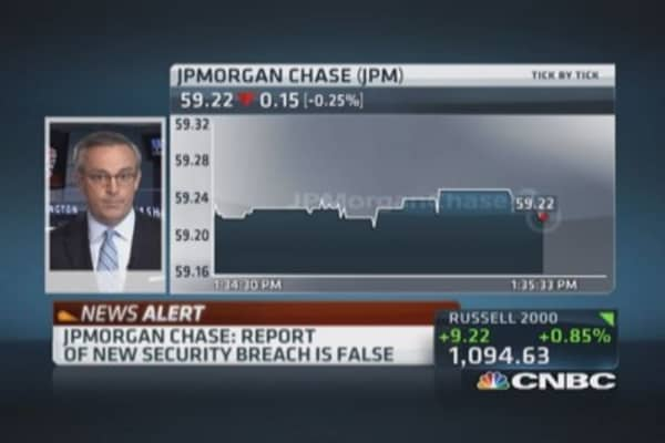 JPMorgan to CNBC: Report of new security breach false