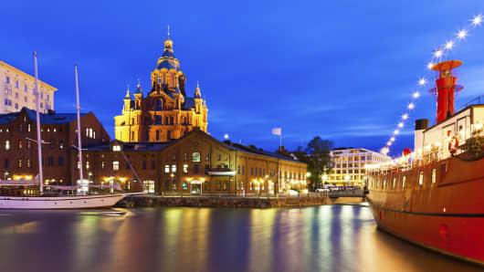 A scenic view in Helsinki, Finland.
