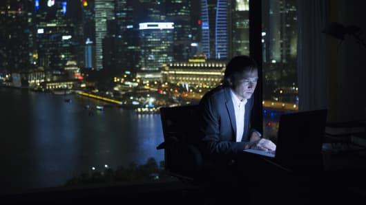 Premium Singapore night time computer