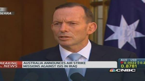 Australia authorizes air strikes in Iraq