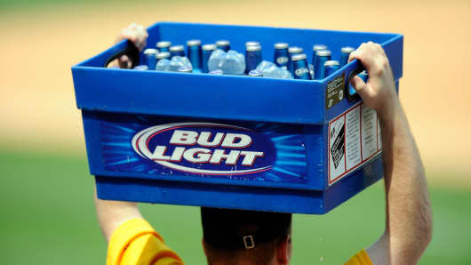 A beer vendor at Citizens Bank Park, Philadelphia.