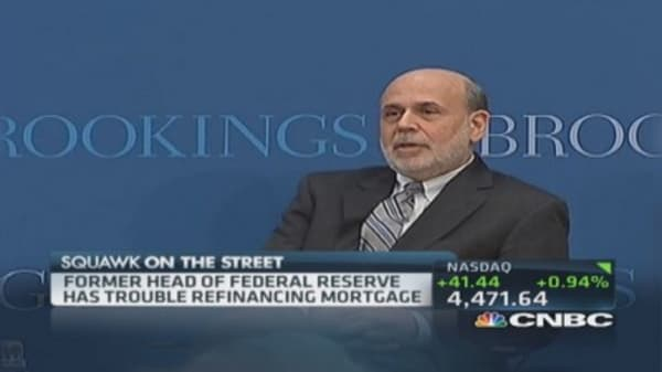 Bernanke 'unsuccessful' in refinancing mortgage
