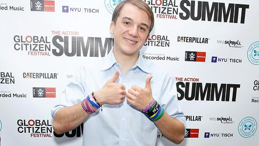 Teen scientist and inventor Jack Andraka attends the Global Citizen Festival - The Action Summit 2014 on September 26, 2014 in New York City.