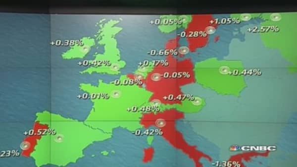 Europe shares pare gains, close mixed as earnings eyed