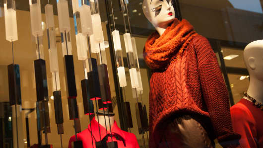 WIndow display at a ZARA store in New York.