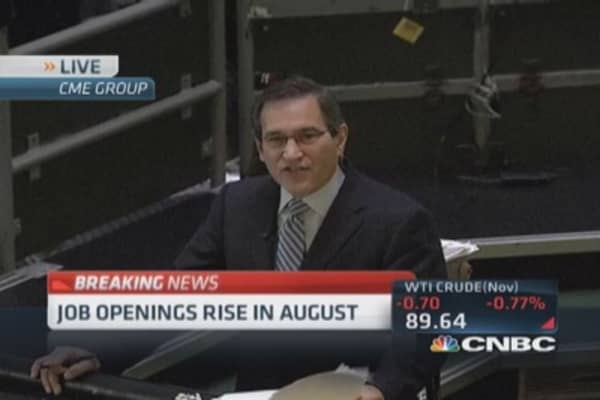 JOLTS rise in August
