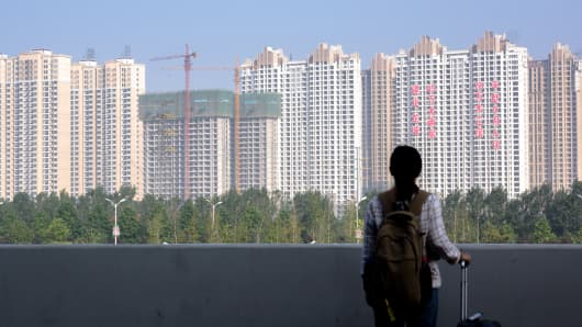 New apartment buildings in Luoyang, China, September 30, 2014.