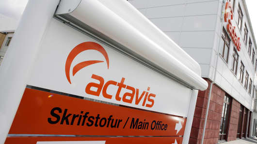 Actavis Group headquarters is shown in Hafnarfjordur, Iceland, April 20, 2006.