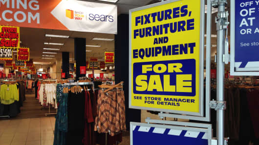 A Sears in Laguna Hills, Calif., offers sales ahead of the store's closing.