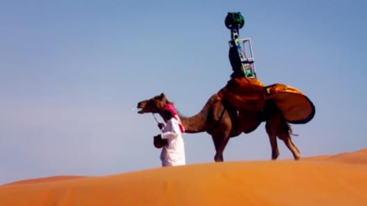 Screen image from Google's Explore Liwa video