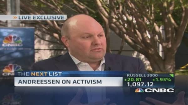Andreessen: Big old tech companies will break up