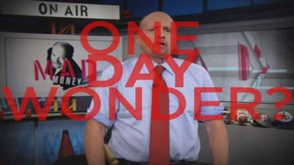 Cramer's warning after today's rally