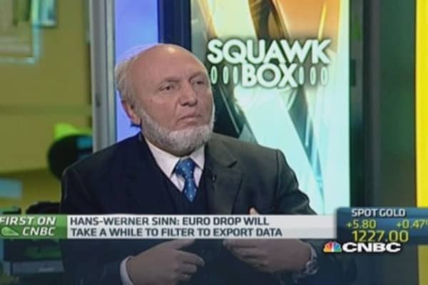 Euro crisis 'under the carpet', could reappear: Ifo's Sinn