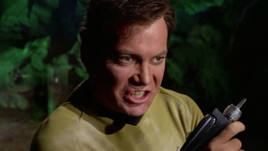 Captain James Kirk in Star Trek