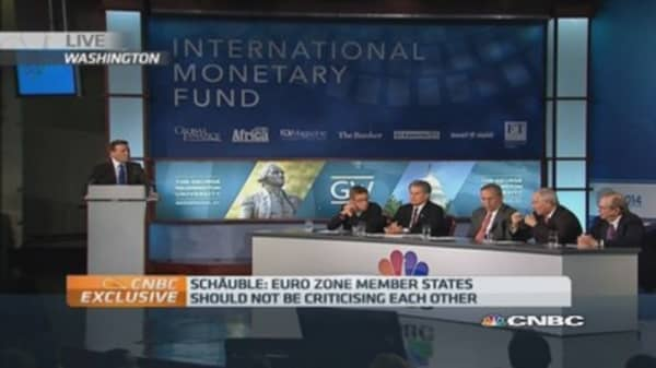 Schauble to IMF: 'Reality is more complex' than books